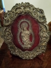 Античное серебрянное украшение Мадонна и младенец / Antique Silver Plate Ex-Voto of the Madonna & Ch