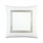 GREEK KEY PILLOW / Декоративная подушка с греческим вышитым орнаментом